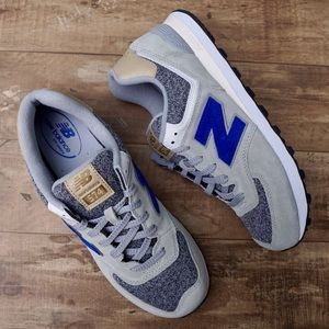 New Balance 574 Classic Sneakers Silver Grey/Blue